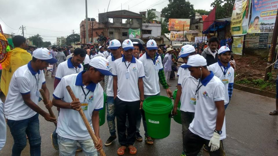 Cleanliness drive during Puri Rath Yatra
