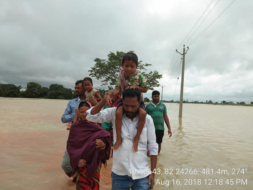 Rescue operation in Malkangiri
