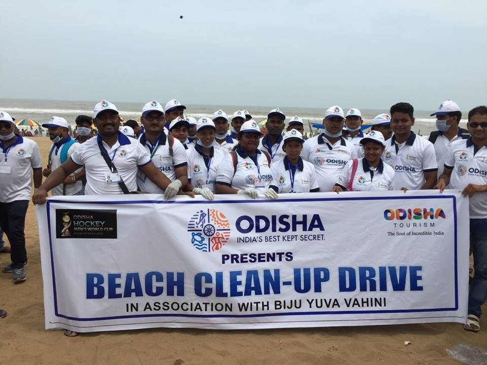 Beach cleaning activity during Puri Rath Yatra
